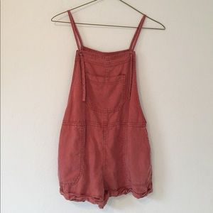 A&F Terracotta Red Overalls